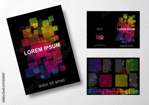 Editable brochure, digital background # Vector
