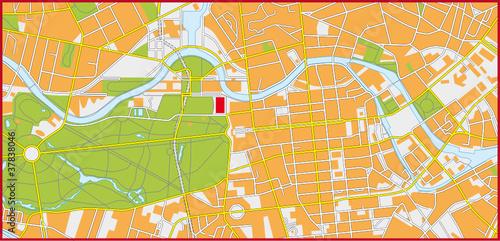 Berlin, Mitte, Tiergarten- Stadtplan