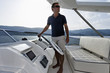 Italy, Tuscany, Elba Island, luxury yacht Azimut 75'