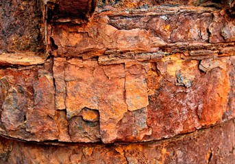 Rusty Red and Brown Grunge Background
