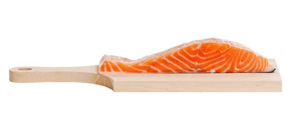 Salmon on a desk.