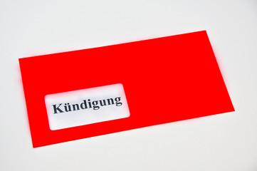 Kündigung im Briefumschlag