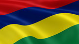 Mauritian flag in the wind. Part of a series.