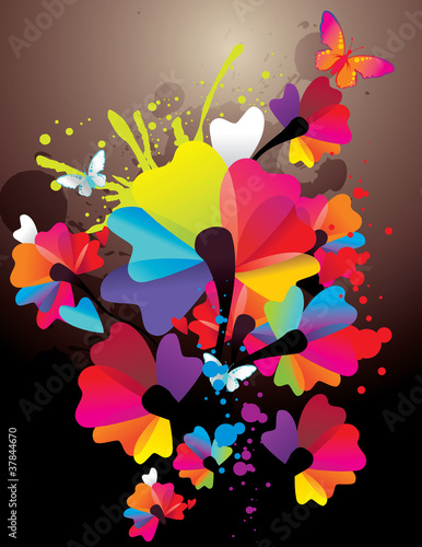 flores de color en vector