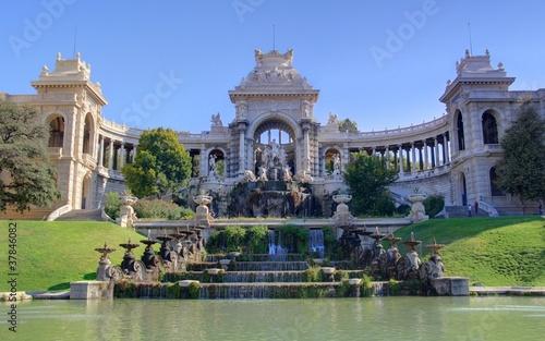 Fotobehang Fontaine palais de longchamp