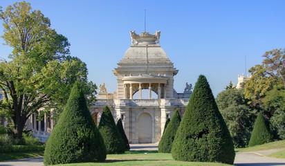pavillon dans un parc marseillais