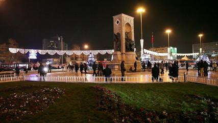 taksim square at istanbul