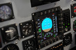 Leinwanddruck Bild - cockpit control