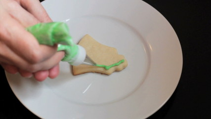 Decorating Bell Shaped Christmas Cookie