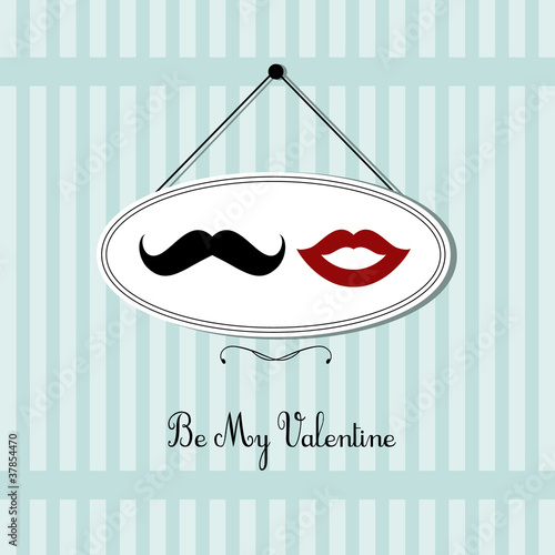 vintage valentine's day card design