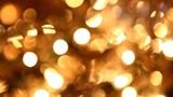 golden twinkle lights background poster