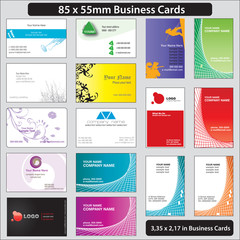 85x55mm business cards