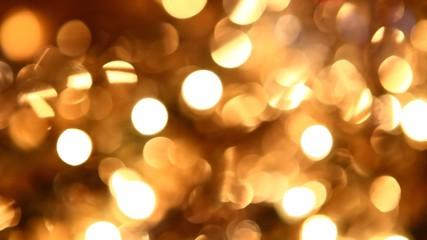 golden twinkle lights background