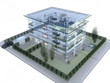 Leinwandbild Motiv appartamento rendering 3d exterior architettura progetto