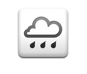 Boton cuadrado blanco simbolo lluvia