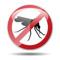 Señal trafico prohibido mosquito