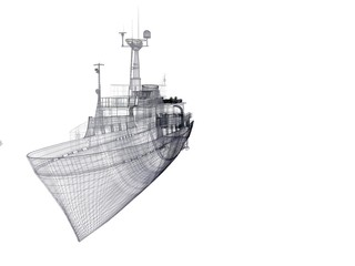 barca yacht wireframe rendering 3d lusso