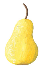 Acrylic illustration of pear