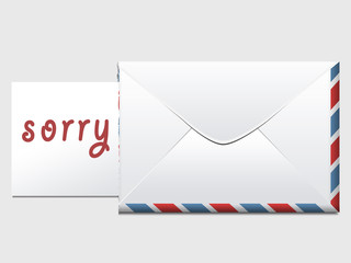 "Stylish message with paper ""Sorry"""