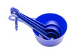 Blue measuring spoons