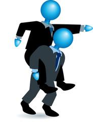 piggyback-blue heads