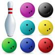 Постер, плакат: Set of balls Bowling