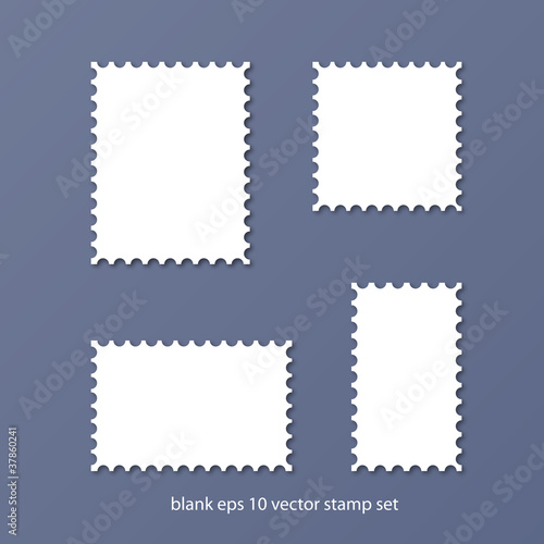 blank vector stamp set