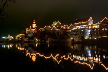 Frohnleiten-small city above Mur river in Styria,Austria.