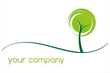 green Eco friendly business logo design