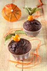 muffins mit physalis