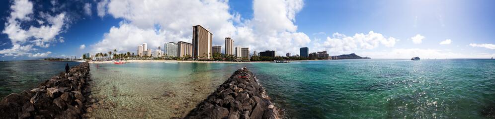 Panorama von Waikiki, Honolulu, Hawaii