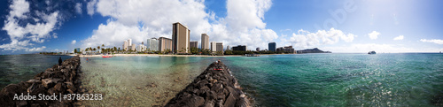 Panorama von Waikiki, Honolulu, Hawaii