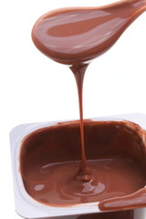 chocolate dessert isolated