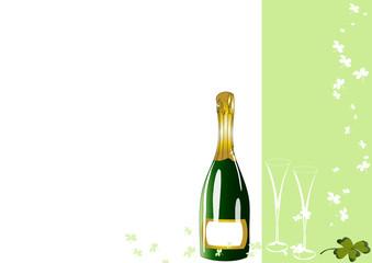 Champagner und Kleeblatt