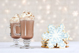hot choclate and cookies - winter treat