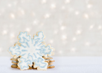 snowflake cookies - winter treat