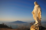 Madonna di San Michele a Monte Faito - Vesuvio sullo sfondo