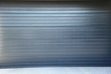 grey security roller door background