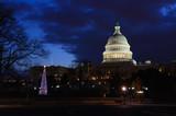 Washington DC - Capitol building and Christmas tree