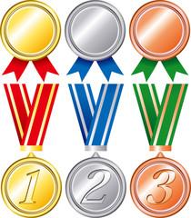 Ranking medal set
