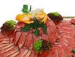 roast beef on silver platter