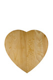 Heart shaped wooden bread board