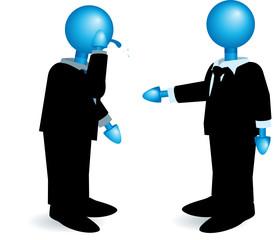 fained handshake-blue heads