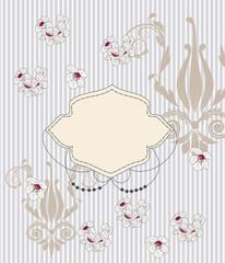 elegante biglietto d'invito con fiori di ciliegio