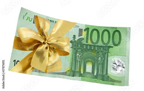 billet cadeau de 1000 euros photo libre de droits sur la banque d 39 images image. Black Bedroom Furniture Sets. Home Design Ideas