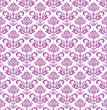 Seamless pink floral wallpaper on white