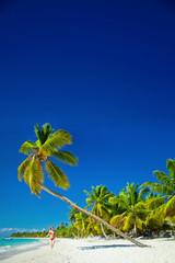 girl at palm beach