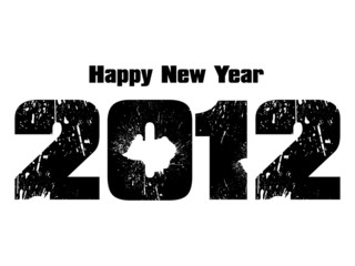 abstract new year grungy text