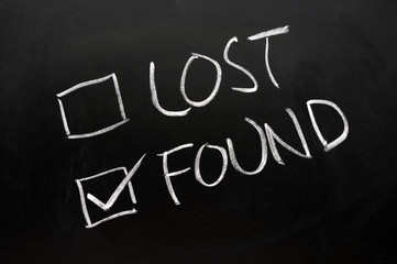 Lost and found check boxes