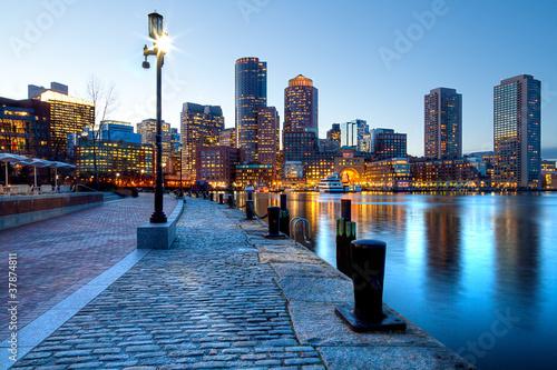 canvas print picture Boston in Massachusetts